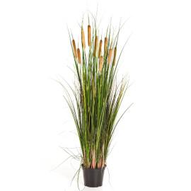 Kunstplant Lisdodde Gras Groen 120 cm