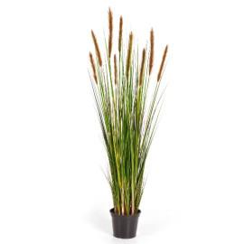 Kunstplant Vossenstaart Gras Bruin 120 cm