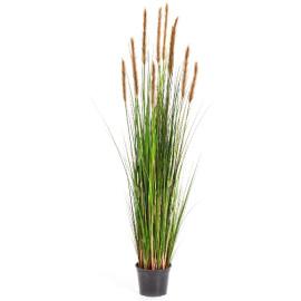 Kunstplant Vossenstaart Gras Bruin 150 cm