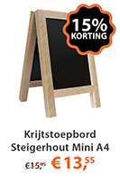 Krijtstoepbord Steigerhout Mini A4
